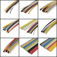 Wholesale 2015 Good Quality Colors Assortment Polyolefin Heat Shrink Tubing Tube Sleeving Wrap Wire Cable Assortment