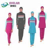 clothing made in china - Ovelar muslim modesty Women Full Cover Modesty Muslim Swimwear Summer Swimsuit Islamic Beachwear wetsuit hot spring clothing made in China
