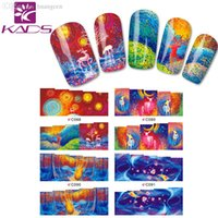background settings - LARGE C88 Set DESIGNS IN Water decal full cover Nail Stickers Colorful design white background design nail sticker