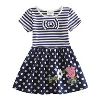 Wholesale Baby Girls Dresses Kids Girl Summer Dresses Brand Girl Stripped Dot Dress Girl s Cotton Dress Costume Clothes H4641