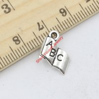 abc book - 30pcs Antique Silver Tone Book ABC Charms Pendants for Jewelry Making DIY Handmade Craft X11mm A117 Jewelry making DIY