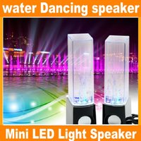 Cheap Dancing Water Speaker Active Portable Mini USB LED Light Speaker For iphone ipad PC MP3 MP4 PSP DHL free JF-A4