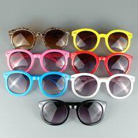 Beach big lots frames - New Arrival Vintage Kids Sun Glasses Cool Big Round Frame Frame Children Sunglasses Mix Colors UV400 Free Shipment