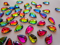 Wholesale multicolour crystal sew on flatback stones water drop shape mm rhinestones gem stones strass