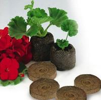Wholesale 30pcs mm Nursery soil for flowers fruit seeds starter soil blocks flower pots planters home decoration flowers seeding soil
