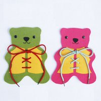 Wholesale 2 a Wear the Bear Clothes String Eearly Development baby toys