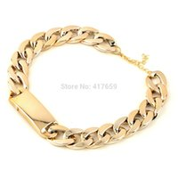 aluminium chain link - Pc New Style Shinny Bling Aluminium Alloy Gold Plated Bib Cool Necklace Chunky Choker Chain Link