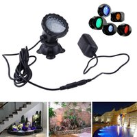 Wholesale LED Fish tank Light Waterproof IP68 RGB Underwater Light fountain pool Lamp Aquarium for Swimming Pool Pond Light AC V