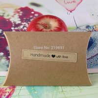 Wholesale x1 cm Kraft handmade love sticker Sticker Label If Customize kraft label sticker will add Extra cost