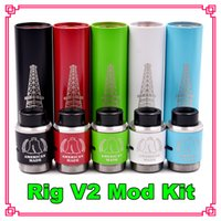 Cheap Rig Mech Mod High Quality 18650 Clone Vaporizer Electronic Cigarettes Rig V2 Starter Kit Vape Mechanical Mods Rig V2 In Stock Free DHL