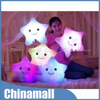 Wholesale Amazing LED Light Up Colorful Pillow Cushion Bear s Paw Heart Love Square Star Drop Shipping