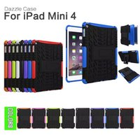 Cheap 500Pcs Lot Shock Proof Hybrid Heavy Duty Stand Tablet Case Hard Back Cover For iPad Mini 4 with Retina Display Free Shipping