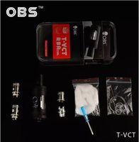 La electrónica de apv España-2016 Cigarrillos auténtica OBS T-VCT RBA atomizador electrónicos 6ML Top Llenar OBS T APV Sub Ohm tanque TVCT Kit vs OBS Crius RTA