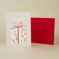 boxed greeting cards - Handmade Paper Cards Christmas Holiday Greeting Cards Merry Christmas Card For Decorating Kids Gifts box SX11017