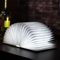 art deco fashion book - Fashion Wooden Folding LED Nightlight Booklight LED Folding Book Lamp USB Rechargeable Beautiful Design A Perfect Gift
