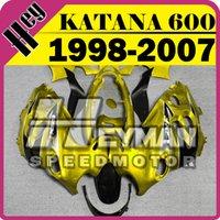 Wholesale Heymanspeedmotor ABS Fairing For Suzuki Katana GSX600F GSX750F Gold Black SK7H23 Free Gifts