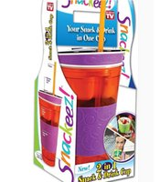 Wholesale Multifunction Snackeez Cup Snack Cup Newest Snackeez Snack Drinkware the all in one Drink and Eat Cup Hot Selling DHL Free