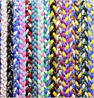 Cheap free shipping 150pcs lot power necklace titanium braided 3 ropes sports can customize necklaces