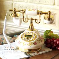 Wholesale European style garden antique telephones phone telephone caller