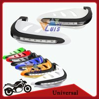 Wholesale US Stock White quot Motorcycle Brush Guards LED DRL Turn Signal Hand Bar Handguard Protector Scooter Snowmobile ATV Dirt Bike Motocross