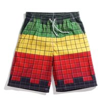 beach volleyball swimsuits - swimsuit men shorts beach contrast color plaid mens beach shorts xl surf beach short volleyball summer casual quick drying