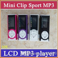Wholesale Clip Mp3 Earphone Usb Cable - SH Mini Clip MP3 Sport Music player With LCD Screen Support Micro TF SD Memory Card+USB Cables+Earphones Come With Crystal Retail Boxes 3-MP
