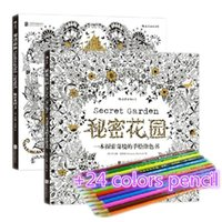Wholesale Secret Garden drawing book coloring books for adults children wonderful adult coloring books with colorful pencil FH083