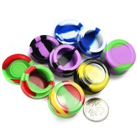 Wholesale Ego Silicone No Stick Jar Container for Oil Dab Wax box BHO Crumble Goo Honey Stainless Steel Wax Oil Dabber Tool