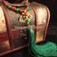 chinese jade jewelry - women ethnic necklace vintage fringes jewelry chinese wind culture jewelry peandants tassel necklace tibetan jade necklace