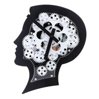 abs motion lights - ABS Super Brain Gear Clock with New and Special Gear Design Motion Brain Wall Clock Nice Gift for Friends or Famliy