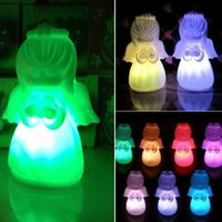 baby blessing gifts - pc Color Change Pray Blessing Angel Light Colorful Baby lovely Nightlight Cute Small LED Night Light for Christmas Gifts