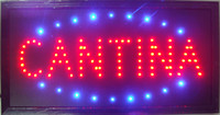 Wholesale 2015 Ultra Bright LED Neon Light Animated Neon Cantina Sign led Cantina sign billboard indoor size inch