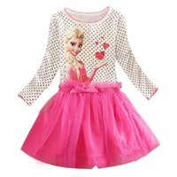 Wholesale Lowest Price Baby Girl Tutu Dress Toddler Ball Gown Princess Dress Frozen Dress Elsa Frozen Clothing Brand Kids Girls Dress