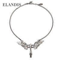 eagle pendant - Crystal eagle pendants Chic short chain necklace ELANDIS brand new Zinc Alloy fashion necklaces women accessories NL07546