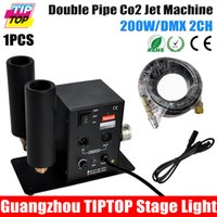 Wholesale Sample Stage Light CO2 Machine Double Nozzle With Meter Hose DMX CH CO2 Machine Jet Led Stage Effect Machine V V DMX Co2 Dj Gun