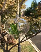Glass hand blown glass - Hanging Glass Air Plants Hand Blown Glass Onion Shape Vase for home decoration garden ornament