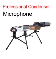 computer part - Condenser Microphone Mic of audio accessories parts Stand Holder set Professional Sound Studio Recording Microphone D715L