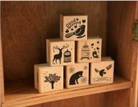 rubber stamps - 6 designs New vintage animal series wood DIY Cute Wooden Rubber Stamps Diary scrapbooking stamp Stamping gift m000263