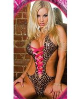 leotard sex - w1022 sexy fashion body sex mesh leotard body suit sexy Lingerie women open Leopard black leather teddy costumes bodystocking