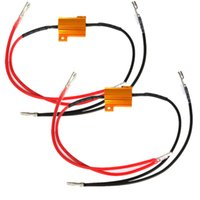 Wholesale 2 x V w ohm Universal Car Motorcycle Indicator Light Lamp Resistor Flasher Relay