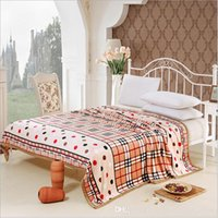 Wholesale Bedding Supplies Sheet Thick winter blankets Full King double sided warm home use velvet mink carpet of cloudsTextiles nap blanket