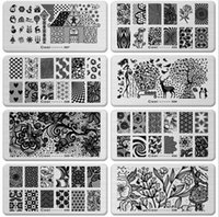 Wholesale 2015 NEW rectangle multielement Manicure printing plate styles Nail Art Templates