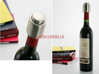 Wholesale Fedex DHL Stainless Steel Vacuum Sealed Red Wine Bottle Spout Liquor Flow Stopper Pour Cap