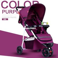 Wholesale 2016 Hot Sale folding child car three wheel cart baby car high view sleeping stroller for baby