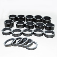 Wholesale 100pcs full carbon fiber road bicycle headset spacer mtb cycling bike parts fork round washer mm