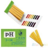 Wholesale 80 Strips Full Range pH Alkaline Acid Test Paper Water Litmus Testing Kit GJQ