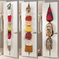 Wholesale Adjustable Over Door Straps Hanger Hat Bag Clothes Rack Holder Organizer Hooks Rack