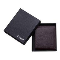 best rfid wallet - Freeshipping Mens Leather RFID Wallet Flip Slim Bifold ID Card Holder Men s RFID Blocking Wallet Black Brown Colors Best Gift