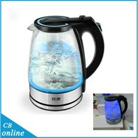 Wholesale 1 L Big Capacity V Electric Glass Kettle Kitchen Appliances Automatic Electric Kettle with led blue light