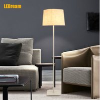 Wholesale American modern creative floor lamp lights led energy saving vertical restoring ancient ways of sitting room bedroom study cloth art ground